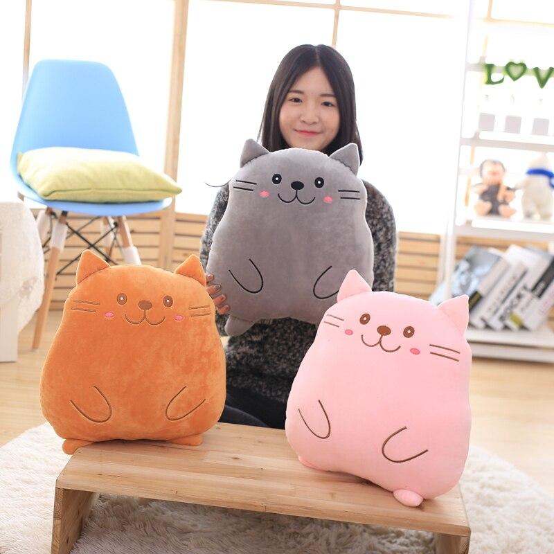 40cm Kawaii Plush Cat Toys Pusheen Cat Pillow Stuffed Aniamls Dolls Soft Cushion Gril Plush Toys Kids Children Birthday Gift