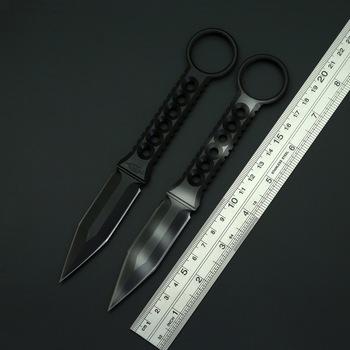 BEKETEN ZU taktyki nóż naprawiono A2 ostrze ze stali na zewnątrz Camping polowanie Survival noże proste narzędzia edc z pochwą K tanie i dobre opinie Obróbka metali A2 Steel Fixed blade knife