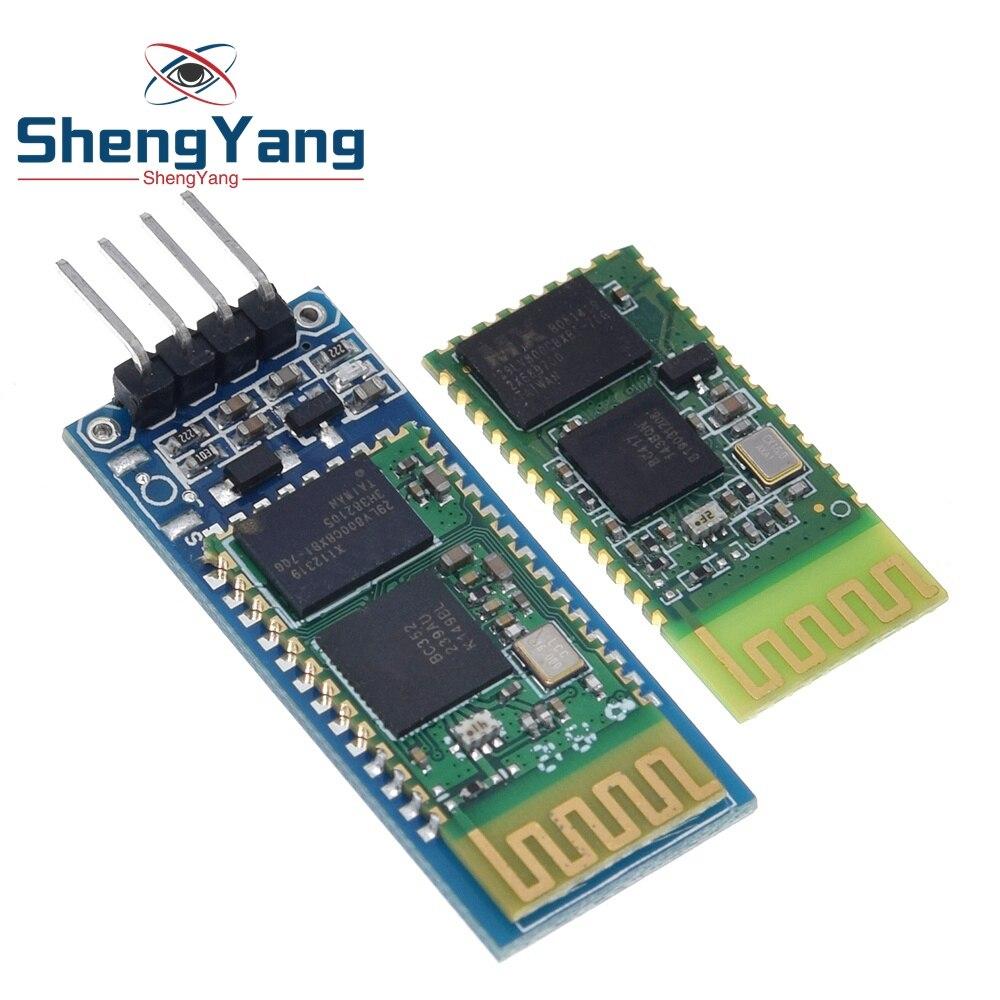 1 шт. Шэньян HC06 HC-06 Беспроводной Серийный 4 Pin Радиотрансивер RS232 TTL Bluetooth модуль Подключаемый модуль для arduino
