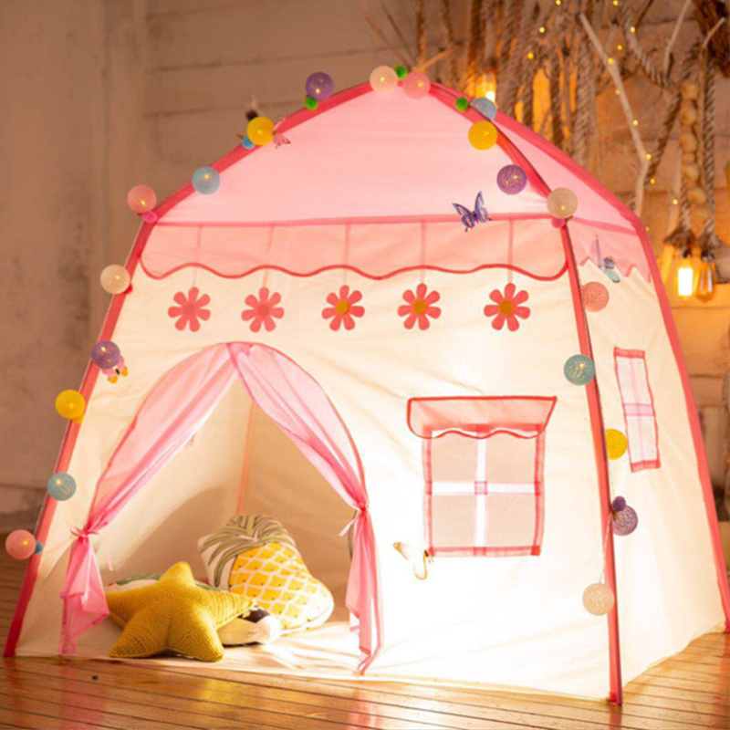 Princess Castle PlayTent Kids Play House Children Toddlers Girls Pink Play Tents Toy For Indoor & Outdoor Games Presents