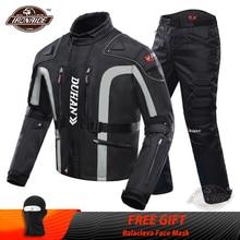 DUHAN 오토바이 자켓 키트 방풍 보호 장비 자켓 + 바지 세트 엉덩이 보호대 승마 오토바이 바지 모토 자켓
