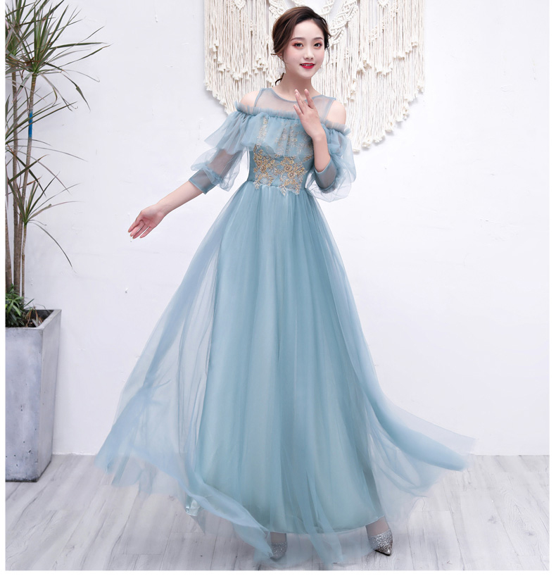 Tulle Long Bridesmaid Dresses Plus Size Junior Vestido Azul Marino Elegant Sexy Dress Prom Wedding Party For Woman Floor-Length