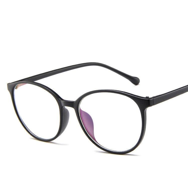 New Fashion Women Glasses Frame Men Black Eyeglasses Frame Vintage Round Clear Lens Glasses Optical Spectacle Frame 4.8