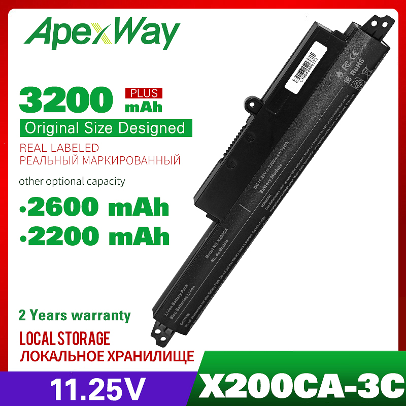 3Cell 11.25V Laptop Battery For ASUS A31N1302 A31LM9H VIVOBOOK X200CA F200CA 11.6