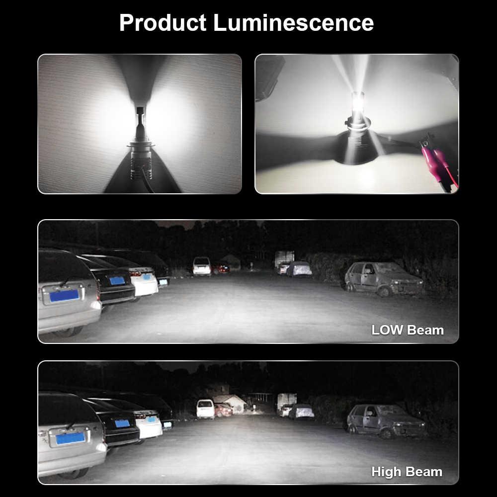 1 Juego de MINI CHIPS ZES 9005 HB3 M3 LED faro pequeño 1:1 bombilla línea de corte claro haz Turbo ventilador 60W 10000LM 6K lámparas LUMILED