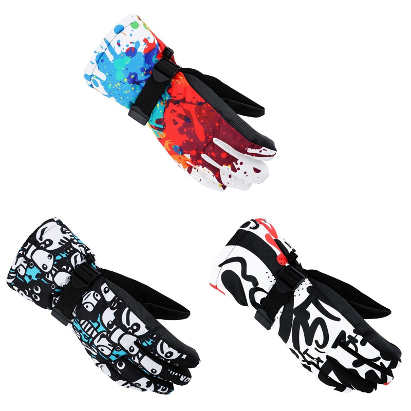 Motorcycle Antiskid Wear Resistant Riding Ski Gloves Mountain Skiing Snowmobile Waterproof Windproof Cycling Gloves
