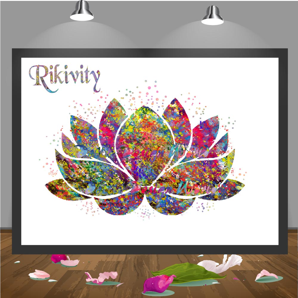 Rikivity Original Lotus Flower Yoga Symbol Poster Prints Wedding Wall Art Canvas Painting Buddha Picture Home Decoration Sticker Prints Pictures Wall Artcanvas Painting Aliexpress