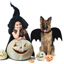 Pet Cat Dogs Halloween Kittens Black Bat Wings Cosplay Funny Costume for Dog Cats Puppies pumpkin bell
