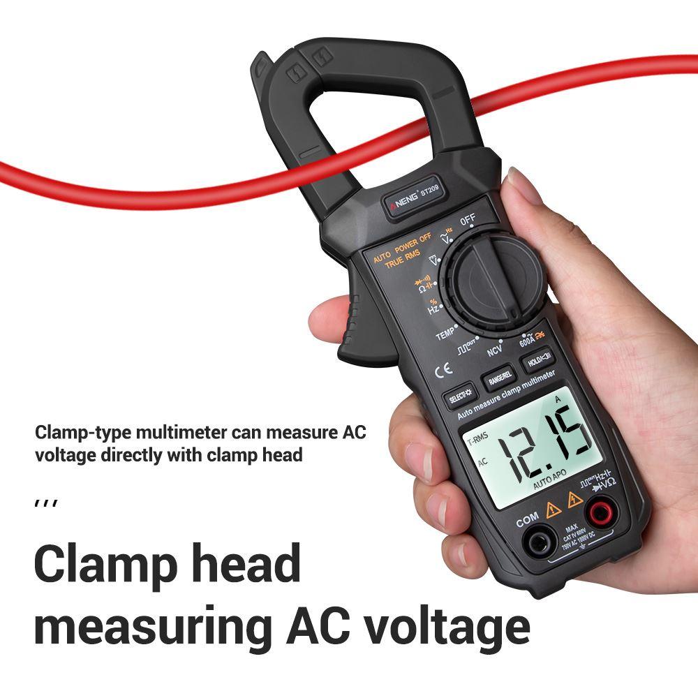 Voltage Meter Tester ST209 Digital Multimeter Clamp Meter True RMS DC AC Current Clamp Tester Meters Voltmeter Auto Range