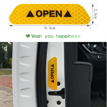 Universal car Accessories Car door OPEN reflective decorative stickers for mercedes w204 bmw e91 opel corsa renault peugeot 207 image