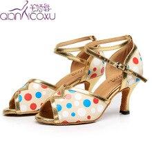 Fashion Salsa Jazz Ballroom Latin Dance Shoes For Dancing Women Plus Size Czech Women Small Feet High Heels Summer Sandals стоимость