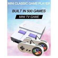 Ootdty 1 conjunto super mini 8bit jogo console retro handheld jogador de jogos com 500 jogos