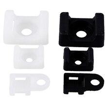 100 шт. крепление для кабельного хомута концентратор для проводов тип седла пластиковый держатель белый черный