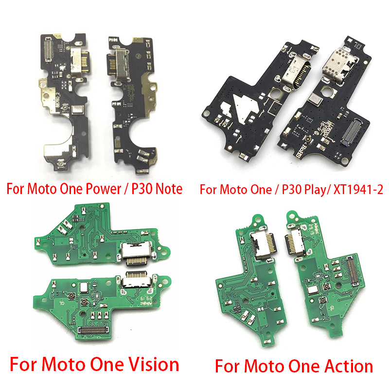 5pcs Charger Board PCB Flex For Motorola Moto G3 G5 G4 G6 G7 Play One Vision Action Power USB Port Connector Dock Charging