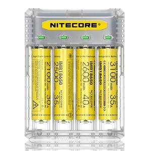 Image 2 - NITECORE Q4 4 Bay 2A için hızlı şarj Li ion IMR 16340 10440 AAA 14500 18650 26650 elektronik sigara pil şarj cihazı