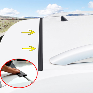 Image 1 - 1.6M Universal Car Door Trunk Upper Edge Sealing Strip Rubber Dustproof Sticker For SUV MPV Hatchback Sedan Auto Accessories