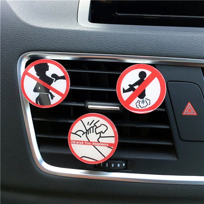 Car Air Freshener Perfume Acrylic Funny Not Fart Men's Car Air Conditioner Outlet Aromatherapy Clip Automotive Styling Ornament