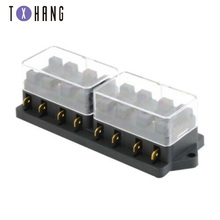 1Pcs 8 Way Circuit Standard ATC Blade Fuse Holder   Fuse Mayitr For Car Auto Accessories High Quality