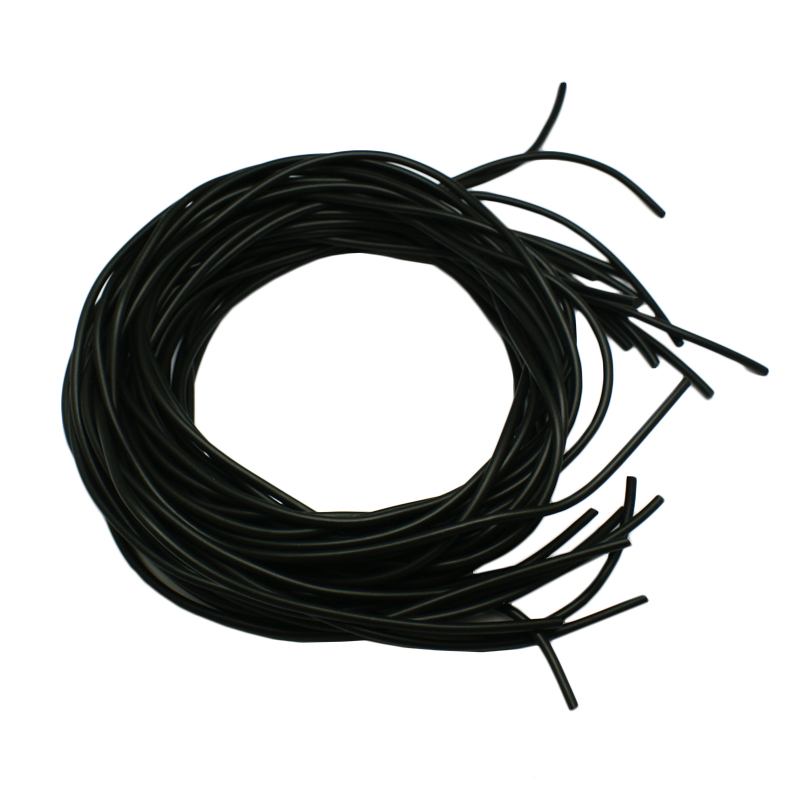 Beading Jewelry Crafts Tubing 3mm Round 10 Yards Black Hollow Rubber Cord