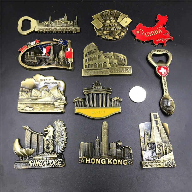 Creative Magnets Fridge Stickers Singapore Australia Sydney Germany Berlin French 3d Refrigerator Magnets Stickers Home Decor