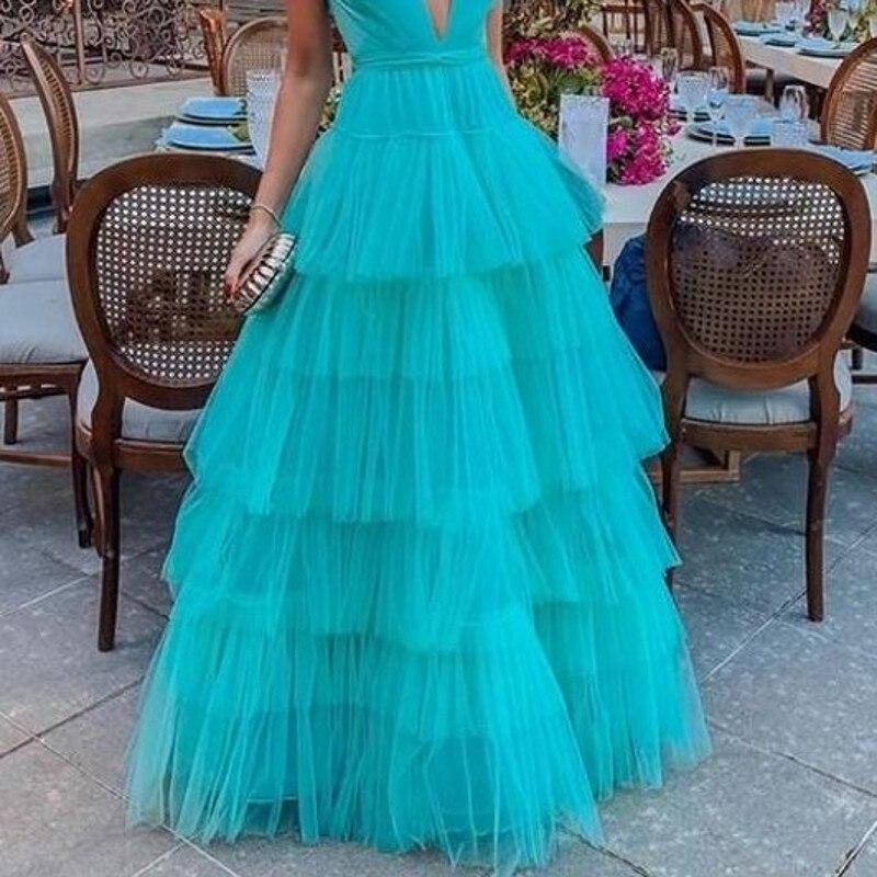 Custom Made Tiered Long Skirts For Women Special Designed Maxi Skirt Tulle Jupe Femme Floor Length Long Women Skirts Tutu 2020