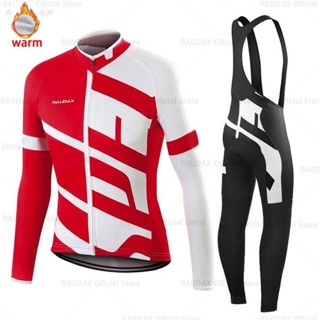 Conjunto de roupa de ciclismo masculina, camiseta e calça profissional de equipe para ciclismo mtb, calças, inverno, lã, 2020 triathlon 2
