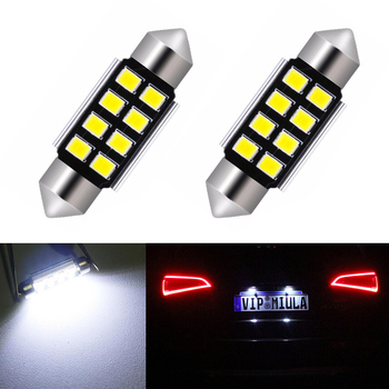 2x LED 36mm Canbus C5W Bulbs Interior Lights License Plate Light For Mercedes Benz W208 W209 W203 W169 W210 W211 W212 AMG CLK image