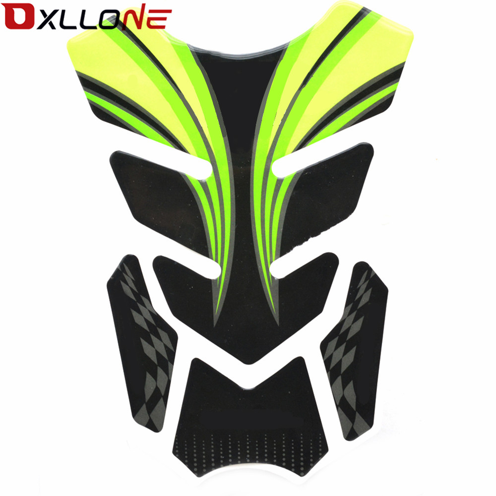 MOTORCYCLE STICKER DECAL EMBLEM PROTECTION TANK PAD SKULL STICKER FOR KAWASAKI ZX6R/636 ZX636R / ZX6RR