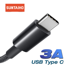 Suntaiho USB Type C Cable For Samsung S10 Huawei P30 Pro USB C Mobile Phone Cable Fast Charging Type C Cable for Redmi Note 7