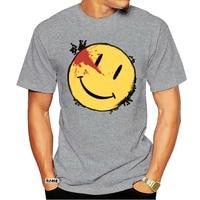 Camisetas de cara sonriente para hombres, camisa de Parody Watchmen, serie televisiva de TV, 100% de sonrisa ensanchada, algodón, cuello redondo, 3741A