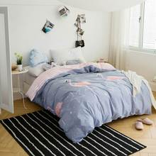 INS Nordic Flamingo Grey Only Duvet Cover(No Comforters and Fillers) Combing Cotton Bedlinens Twin Full Queen Customizing Sizes(China)