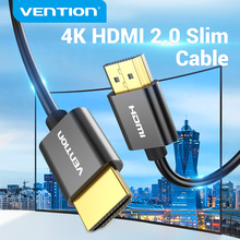 Vention Slim HDMI Cable 4K 3D Ultra HD HDMI 2.0 for Xbox PS3/4 PC Monitor Nintend Switch Projector HDTV HDMI Cable Slim 4K/60HZ
