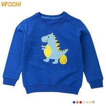 VFOCHI New Girls Sweatshirts 7 Color Spring Autumn Kids Cartoon Print Children Clothes Unisex Boys