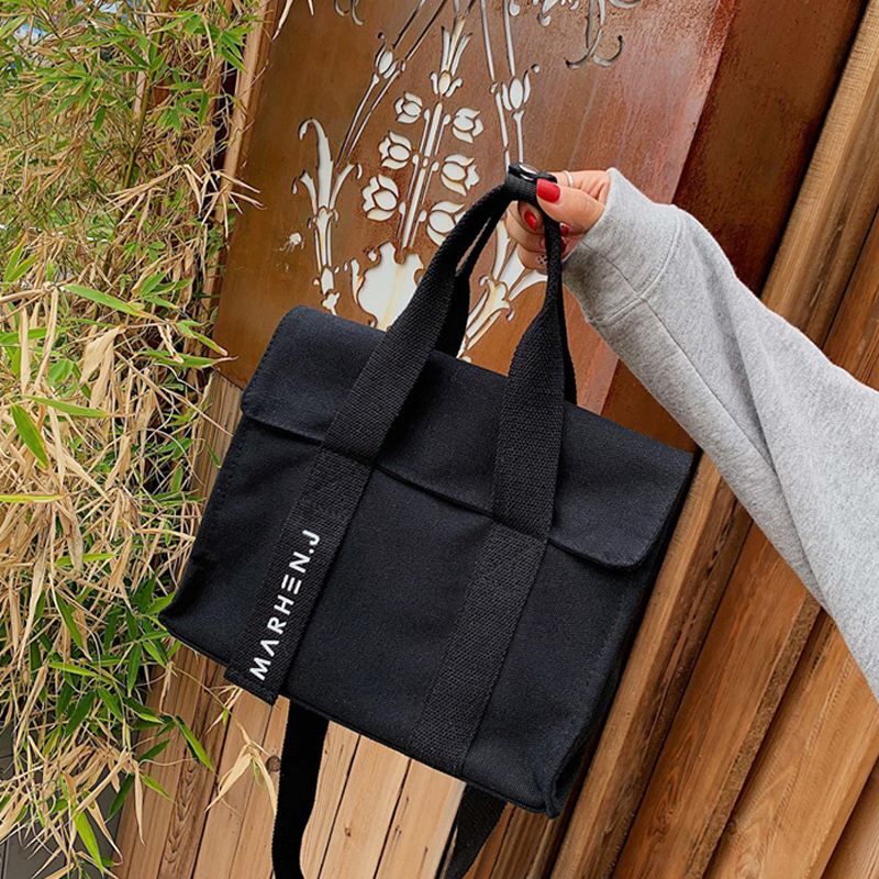 Women's Canvas Shoulder Bags Woman Cotton Shopping Bags Soft Handbag Casual Cloth Tote Schoolgirl Bag Ladies Shopper Bags
