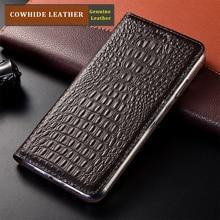 Crocodile Pattern Genuine Leather Case For XiaoMi Redmi 3 3X 4 5 5A 6 6A 7 7A 8 8A 9 9A 9C Pro Plus Magnetic Flip Cover