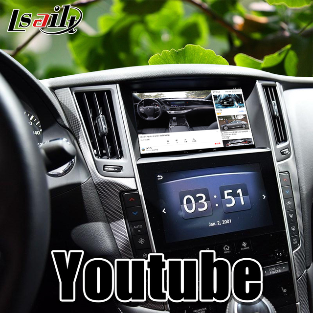 Android 7.1 GPS navigation Multimedia Video Interface support wireless carpaly/Android auto for Infiniti 2015-2019 Q50 Q60 1