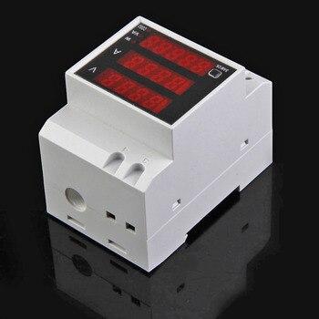 Convenient D52-2048 Din Rail Ammeter Voltmeter Current Meter Multi-functional Practical LED Display Power Energy Meter 1