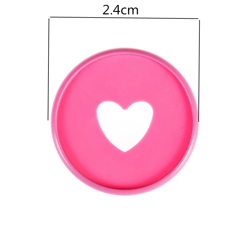 100 PCS 24mm notebook plastic binder ring binder buckle DIY 360 degree rotating mushroom hole color learning binding supplies