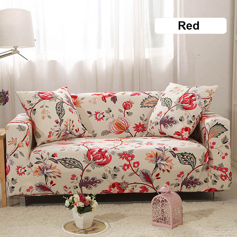 1/2/3/4 Seaters Elastic Stretch Sofa Cover for Living Room Morden Printed Floral Sectional Slipcovers Chair Couch Non-slip Cover 1