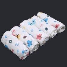 28*28cm Newborn Baby Square Gauze Towel Cotton Colorful Elephant Children's Small Face Towel Infant Baby Kids Saliva Towel 5pc