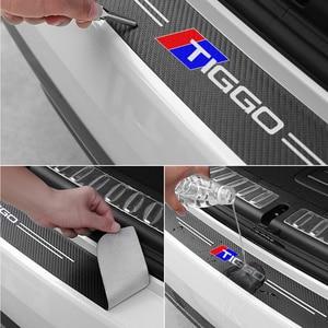 Image 3 - 1pc רכב trunk דקורטיבי מגן מדבקות פגוש קישוט שינוי עבור CHERY TIGGO 3 4 5 7 פרו 8 מדבקות אבזרים