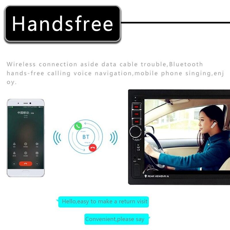 Автомобильный Радио Android двойной Din 7 дюймов пресс радио gps навигация 2 Din универсальный автомобильный мультимедийный плеер BT FM стерео аудио ... - 4