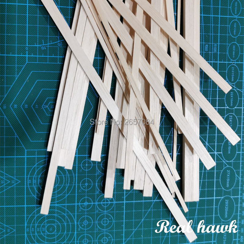 200 Mm Length 2 Mm Thickness Width 3/4/5/6/7/8/9/10mm Wood Strip AAA+ Balsa Wood Sticks Strips For Airplane/boat Model DIY