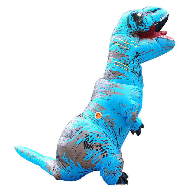 Cosplay Feminino T rex Dino Fahrer Anzug T-Rex Kostüm Purim Erwachsene Männer Halloween Aufblasbare T Rex Dinosaurier Kostüm für Kinder Frauen