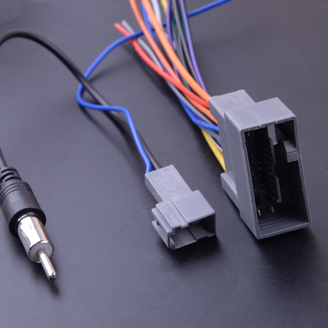 2 pcs Radio Stereo Wire Wiring Harness <font><b>Cable</b></font> Antenna <font><b>Adapter</b></font> Connector Fit For <font><b>Honda</b></font> Civic CRV Odyssey Jazz Acura TSX image