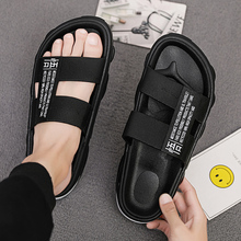 New Summer Men's Slippers 2019 Fashion Outdoor Slides Indoor Non-slip Slippers for Men Floor Slipper Breathable Home Slipper fayuekey 2018 new spring summer fashion genuine leather home couples slippers indoor floor outdoor slippers non slip flat shoes