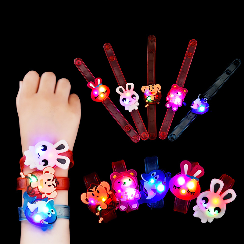 Kids Strap With Luminous Toys For Children Creative Cartoon Flash Watch Wristband LED Light-up Show Party Toys Boys Girls Gifts