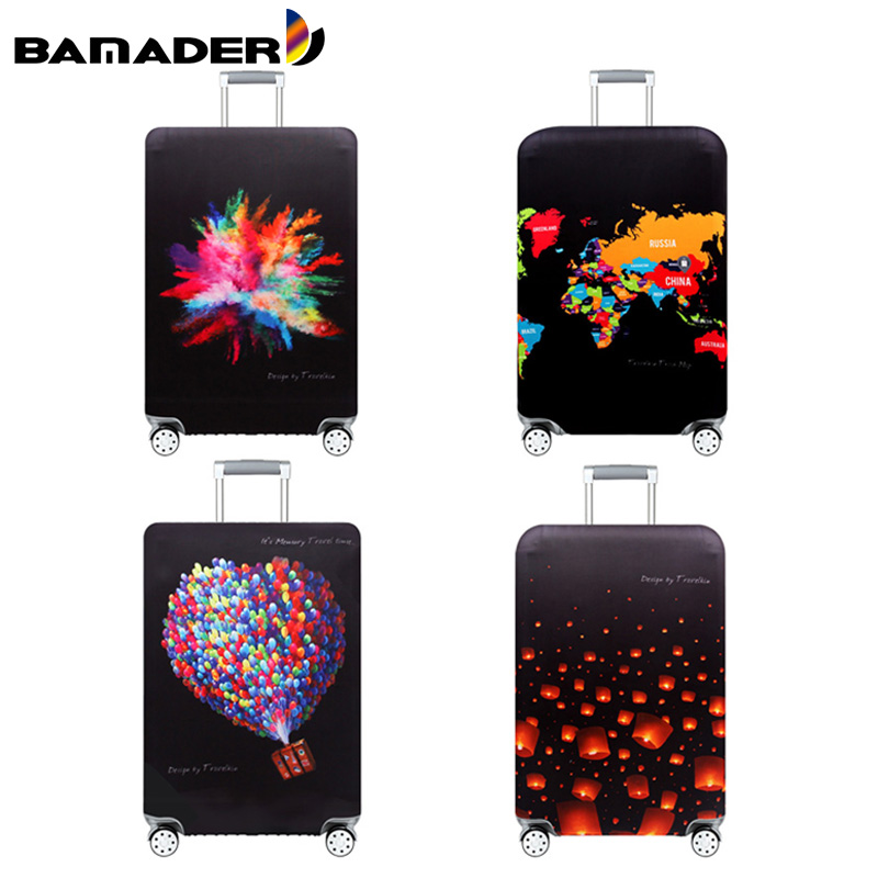 BAMADER Luggage Cover Washable Suitcase Protective Cover High Elastic Trolley Case Dust Cover Wear Resistant Luggage Accessories