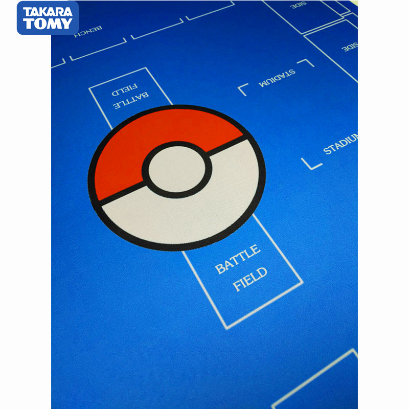 TAKARA TOMY 2Player Pokemon Trainer Playmat Pokemon Card Confrontation Ptcg  Pocket Monster Vs War Card Pet Table Game Card Mat