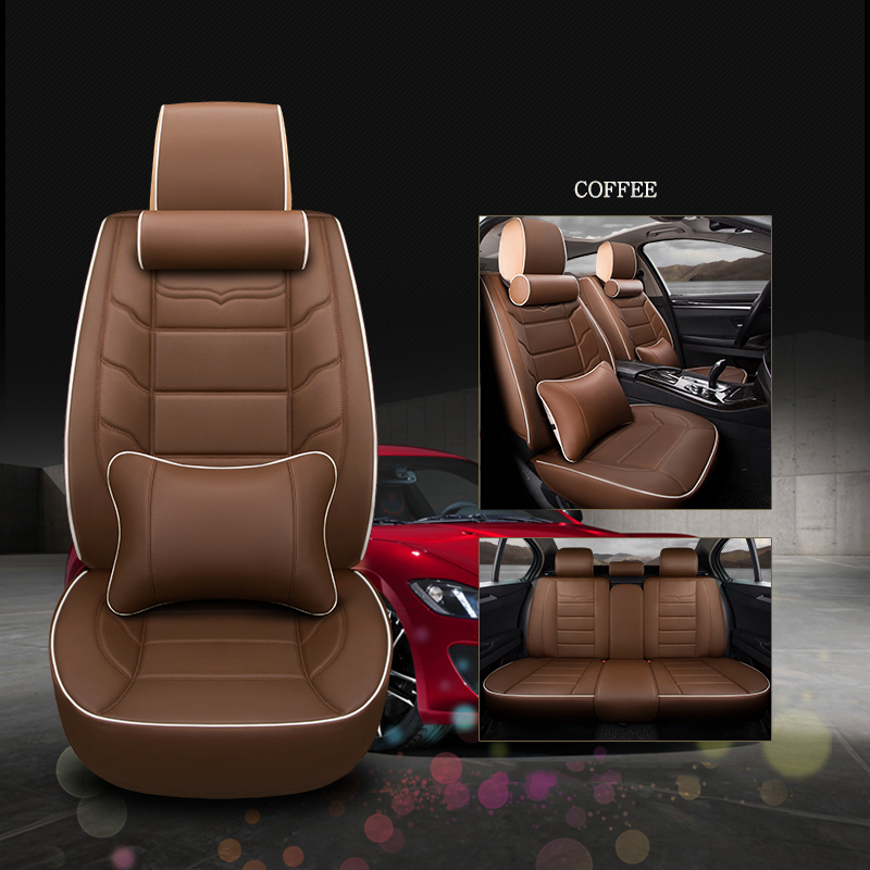 Universal Leather Car seat <font><b>cover</b></font> <font><b>for</b></font> <font><b>audi</b></font> 80 <font><b>100</b></font> <font><b>c4</b></font> a7 a8 q2 q3 q5 q7 s3 s4 s5 s6 s7 s8 sq5 sq7 of 2018 2017 2016 2015 image